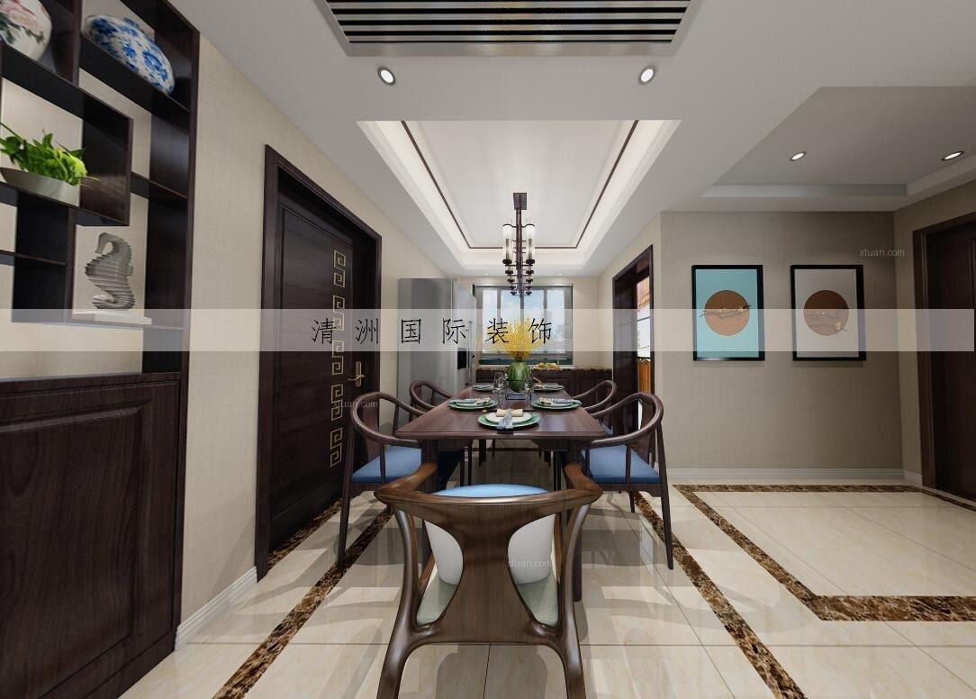 三居室新中式餐厅厨具