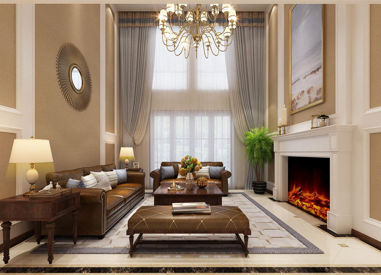 联排别墅现代风格客厅