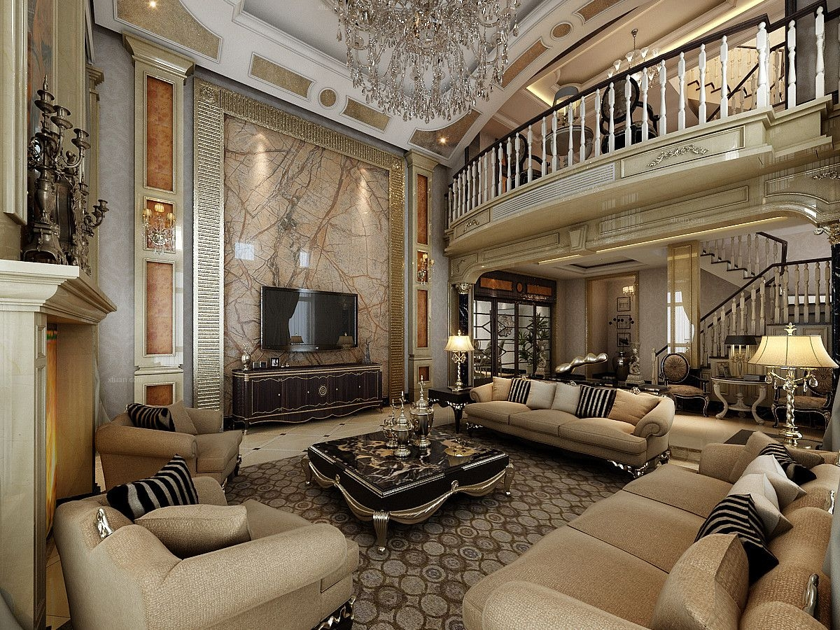 別墅新古典客廳