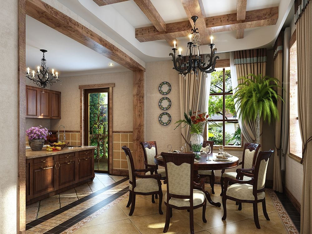 别墅美式风格餐厅