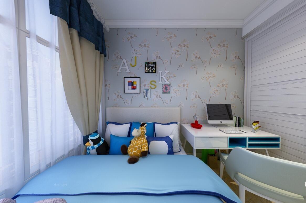 三居室现代简约儿童房软装