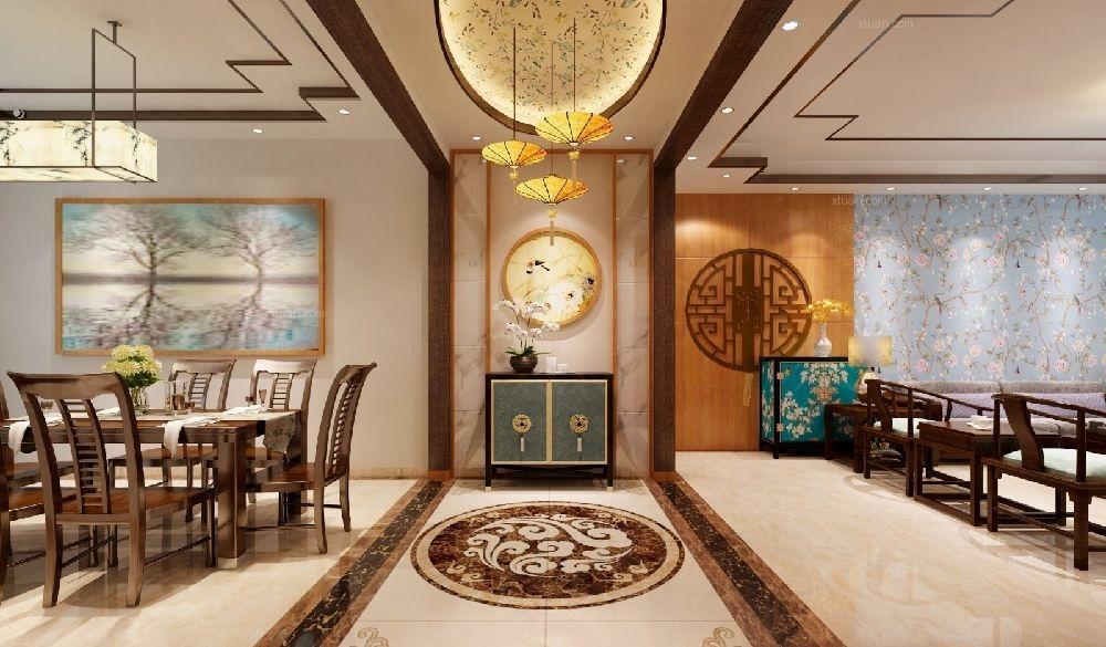 四居室新古典客厅隔断