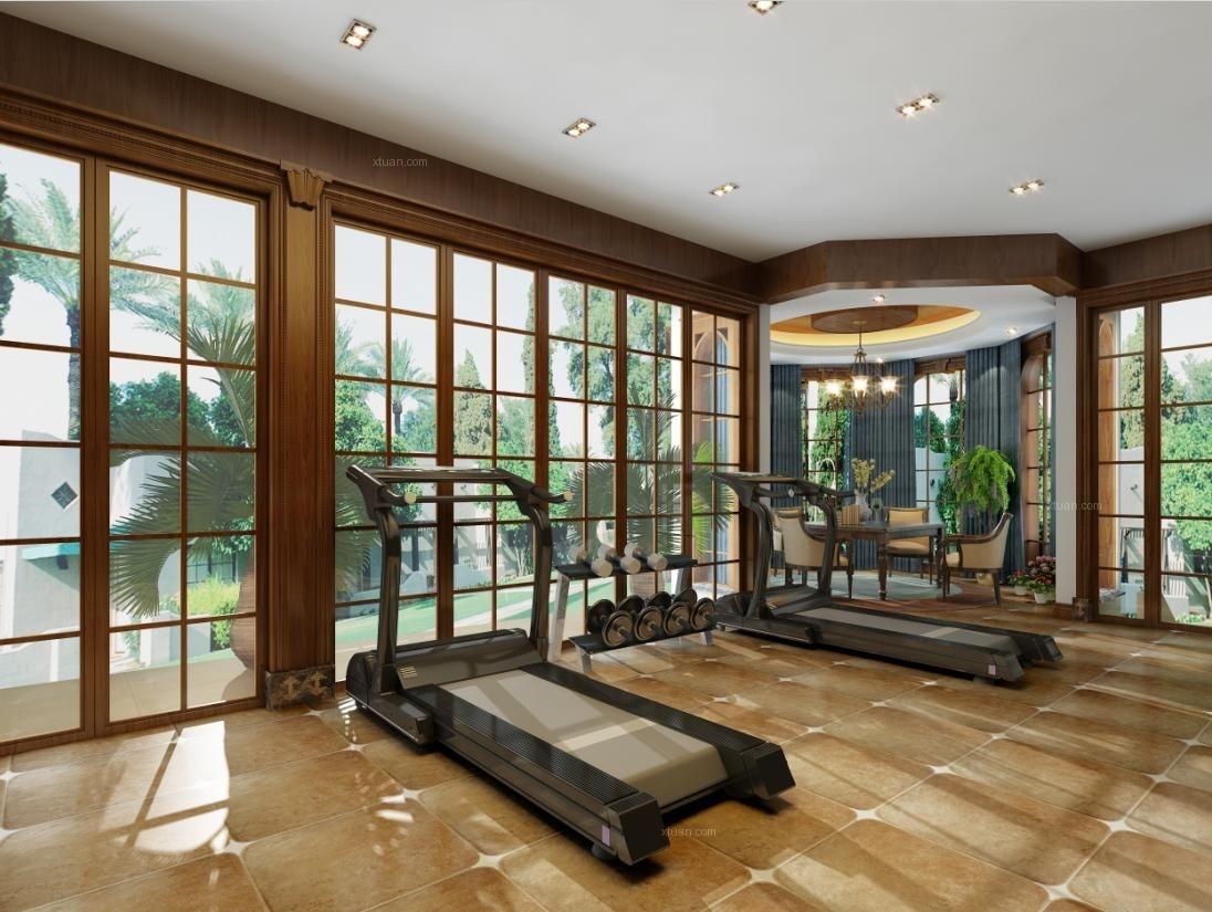 上海晶园别墅装修美式风格设计