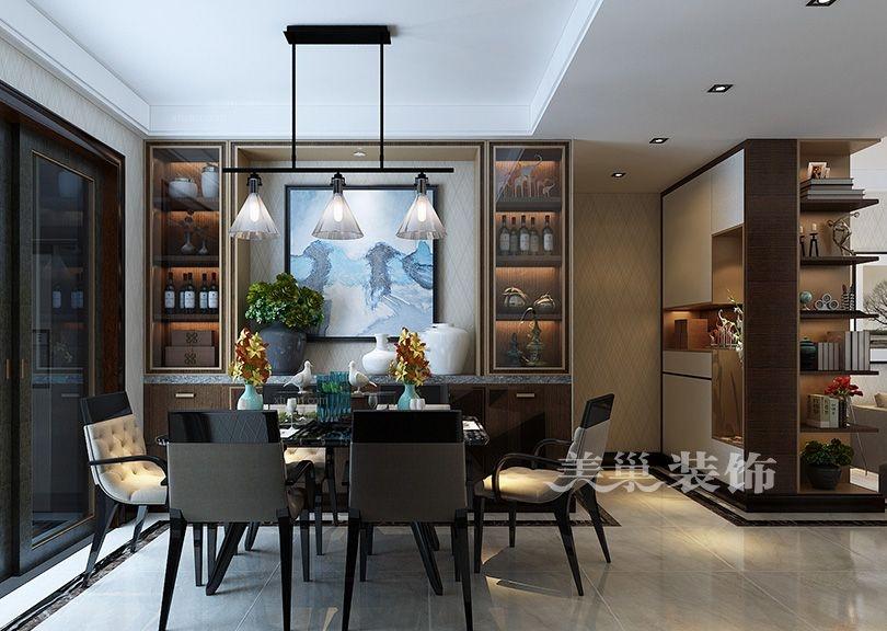 三室一厅现代简约餐厅照片墙