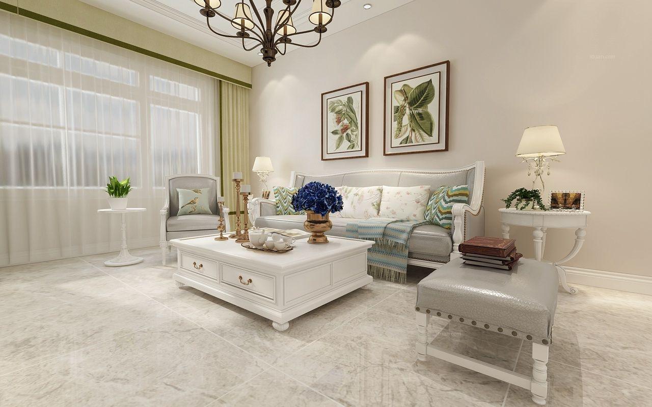 白色的美式风格-纯净淡雅-哈尔滨鸣雀装饰
