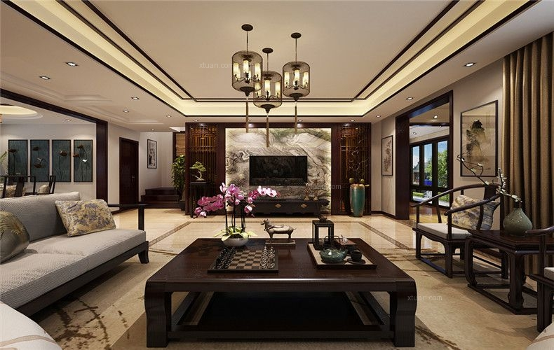 联排别墅中式风格客厅
