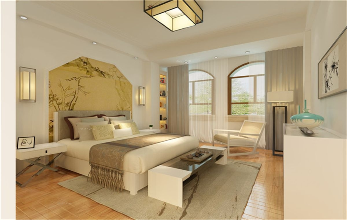 别墅现代风格卧室