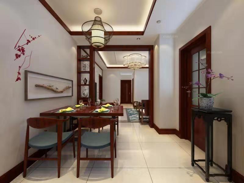 三室两厅新中式餐厅