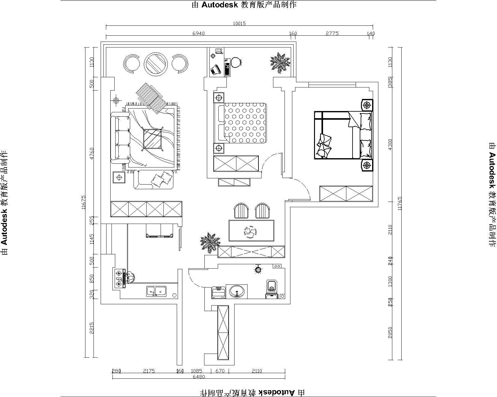 兰州九鼎装饰|兰州环卫局两居室简美风格装修效果图