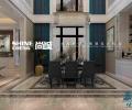 泰安国悦府小区350平联排别墅简欧风格装修效果图