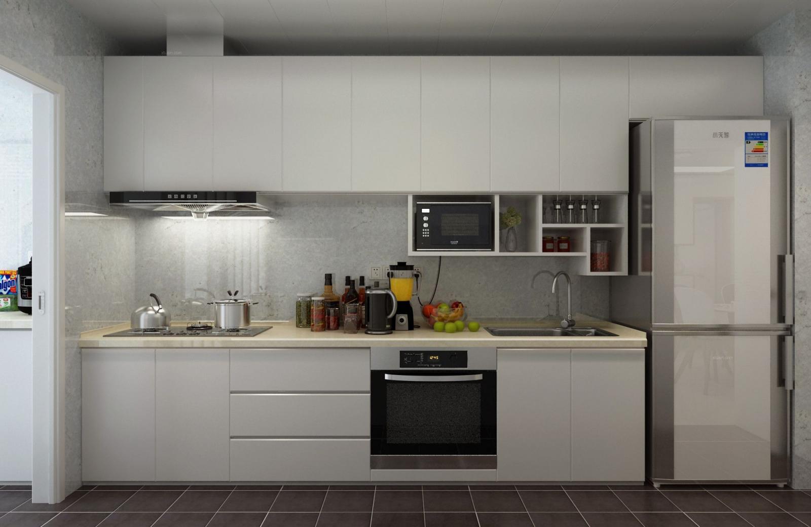 三居室简约风格厨房