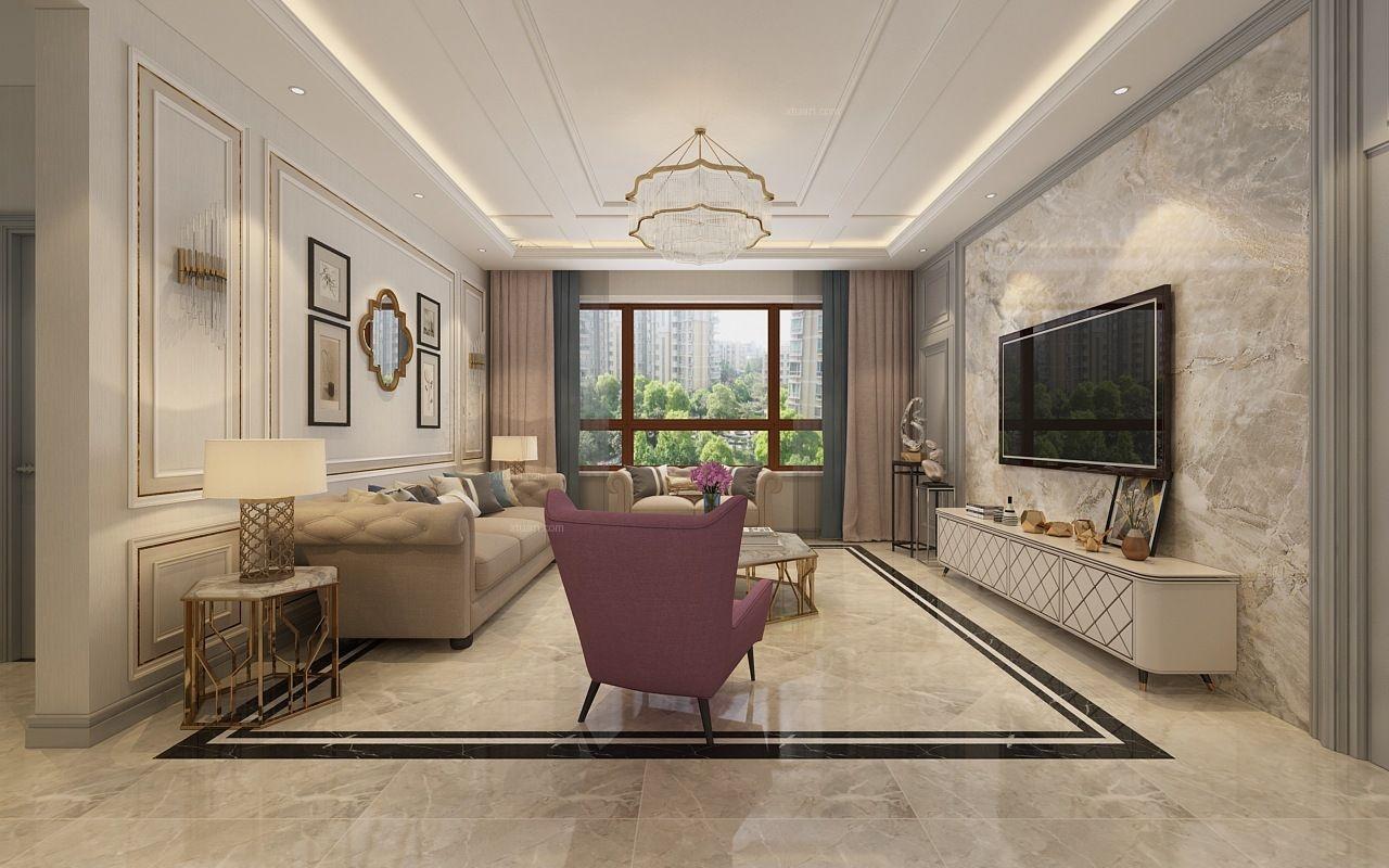 兩居室美式風格客廳