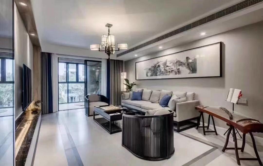 三居室新中式客厅
