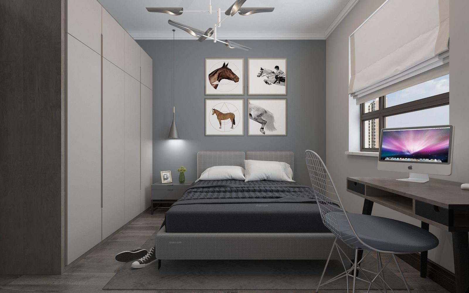 温莎花园-个性复古黑白灰风格-哈尔滨鸣雀装饰