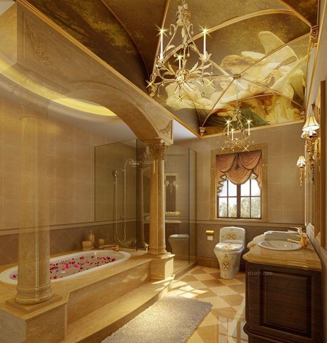 别墅古典风格卫生间