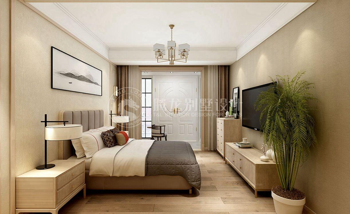 龙湖郦城联排别墅装修中式风格设计