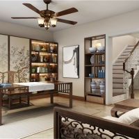 龙湖郦城别墅装修现代风格设计案例