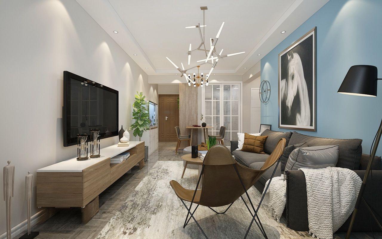 两居室北欧风格客厅
