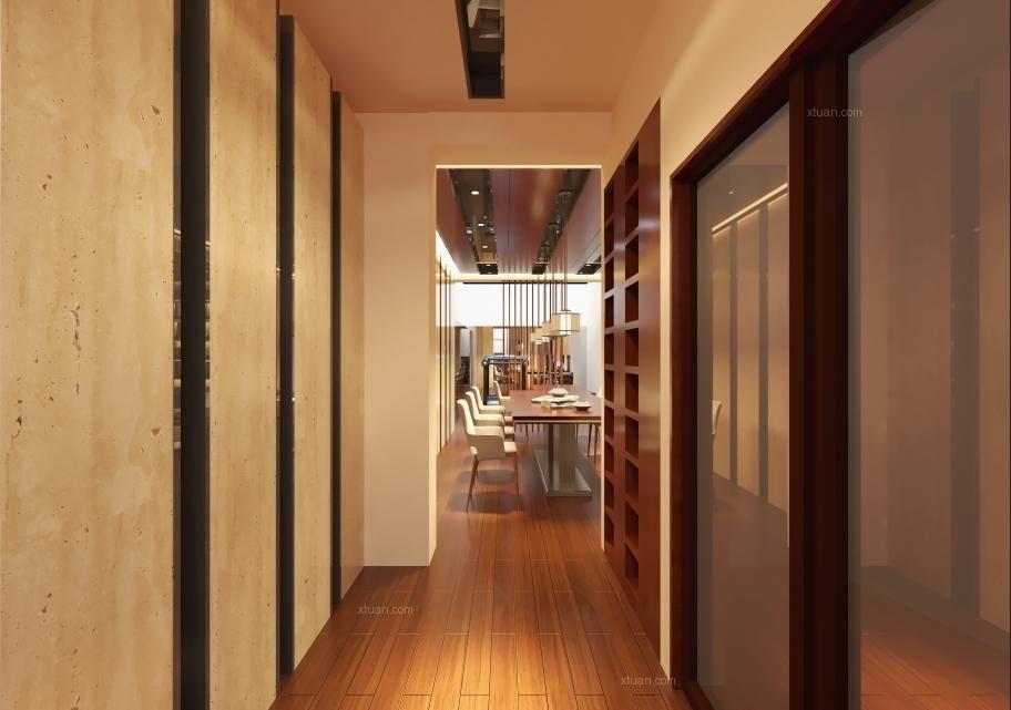 一居室現代簡約過道開放式廚房