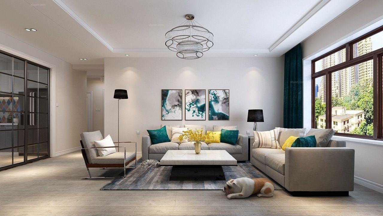 兩居室現代簡約客廳