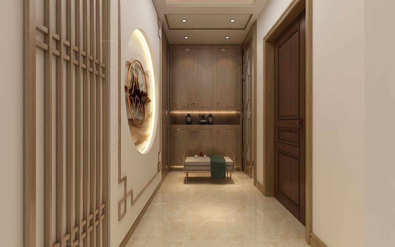 两居室新中式玄关