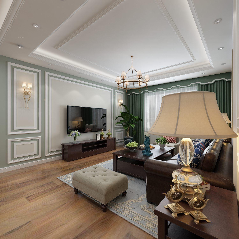 两室两厅美式风格客厅