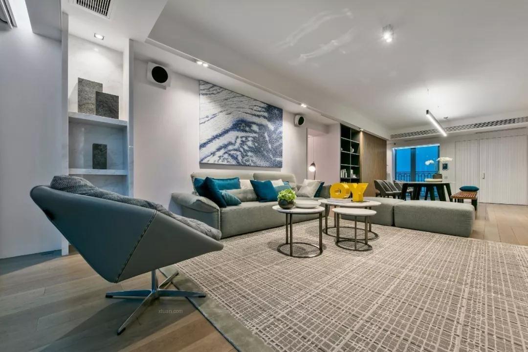四居室現代簡約客廳