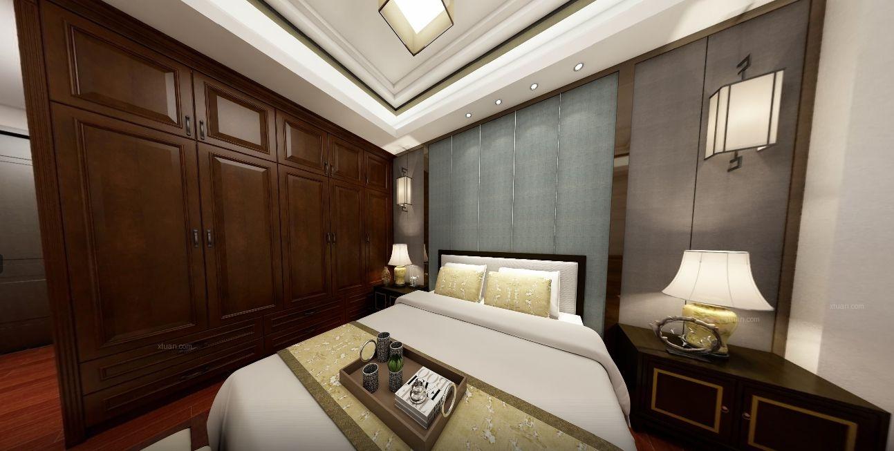 三居室中式风格主卧室