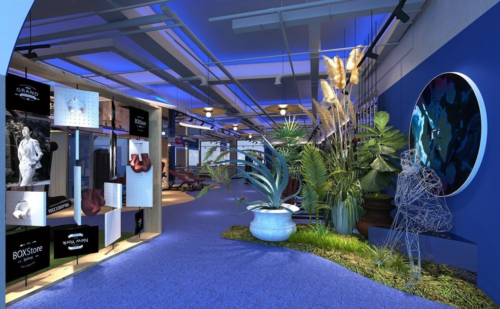 健身會所設計-高級健身房-商業空間設計