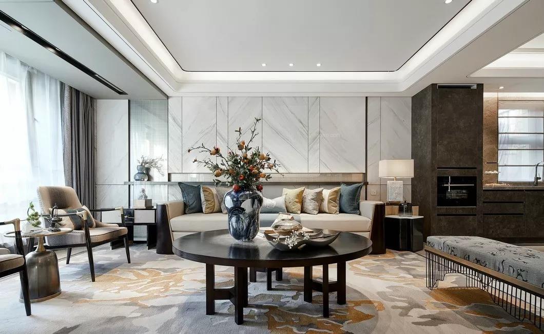 四居室新中式客廳