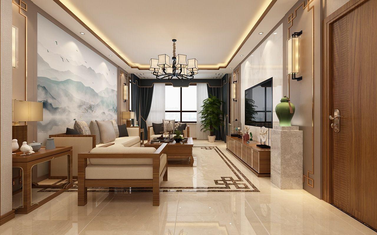 两居室新中式客厅