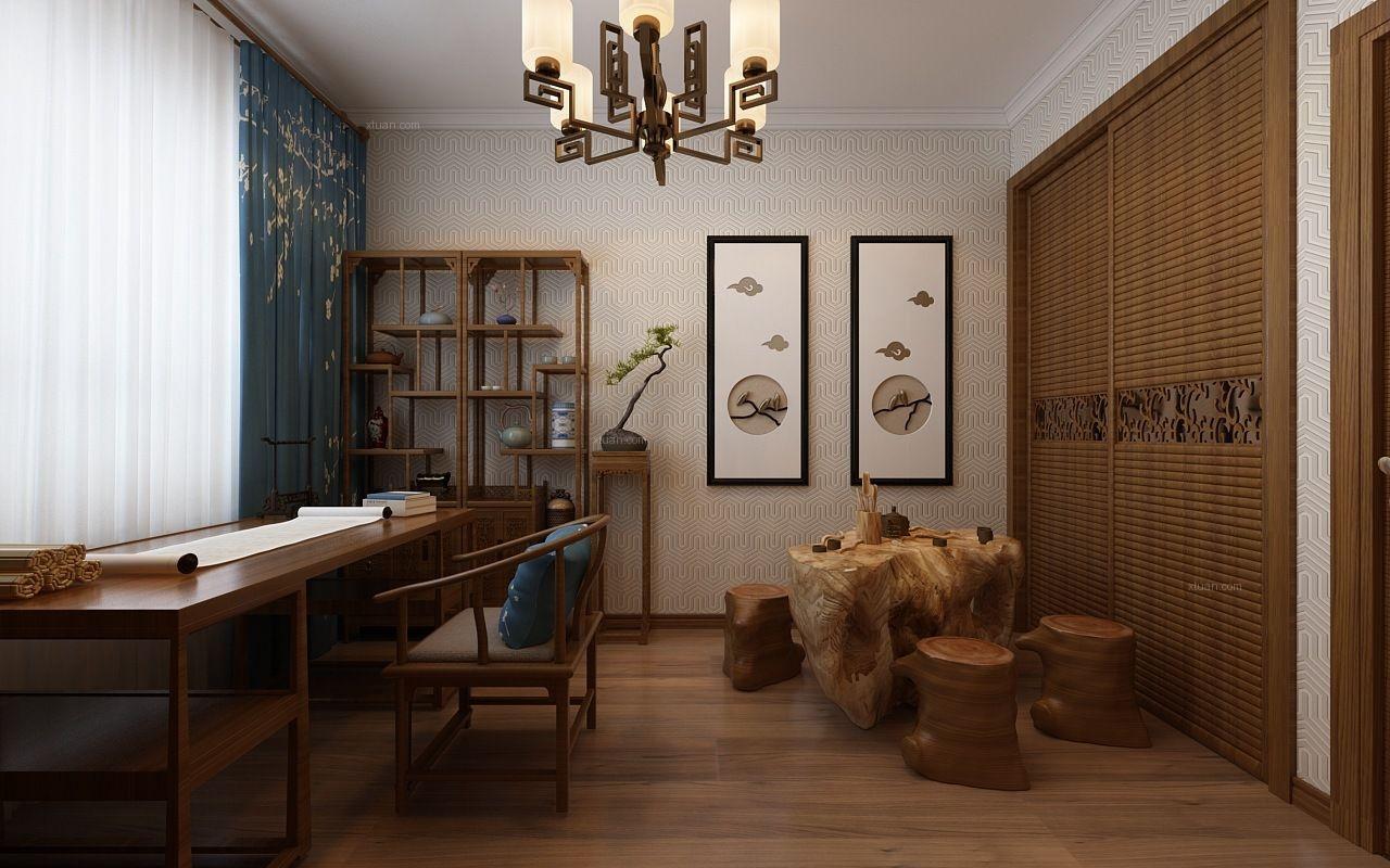 煙墨之美-新中式風格案例-哈爾濱鳴雀裝飾