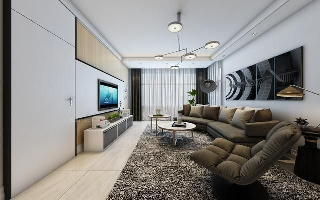两室两厅都市风格客厅