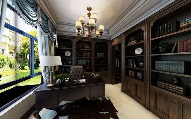 两室一厅美式风格书房