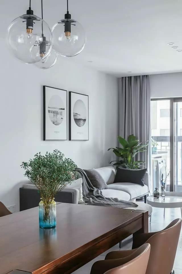 朗基御今缘三居室北欧风格案例-成都大树装饰