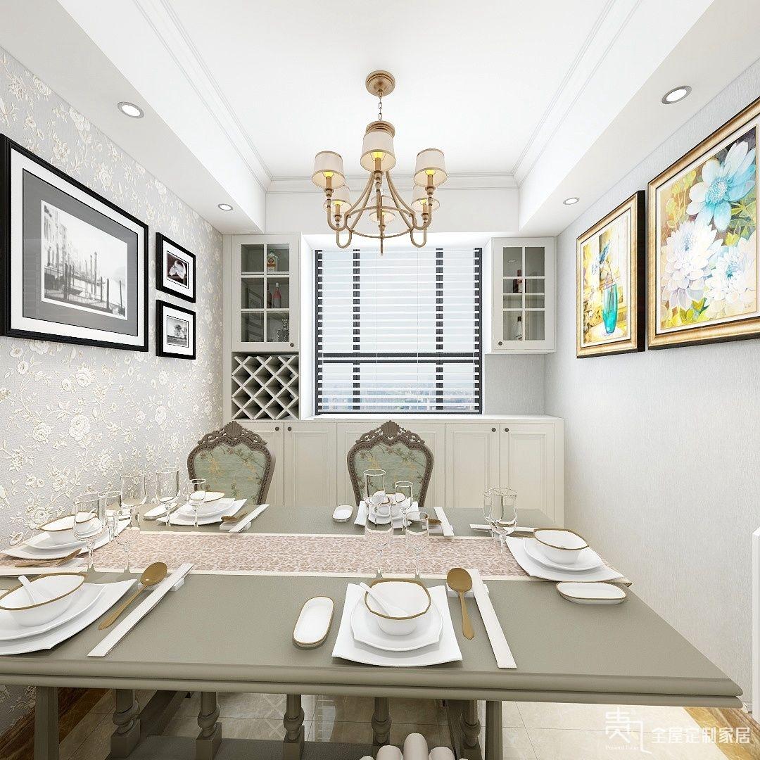 四居室欧式风格餐厅开放式厨房