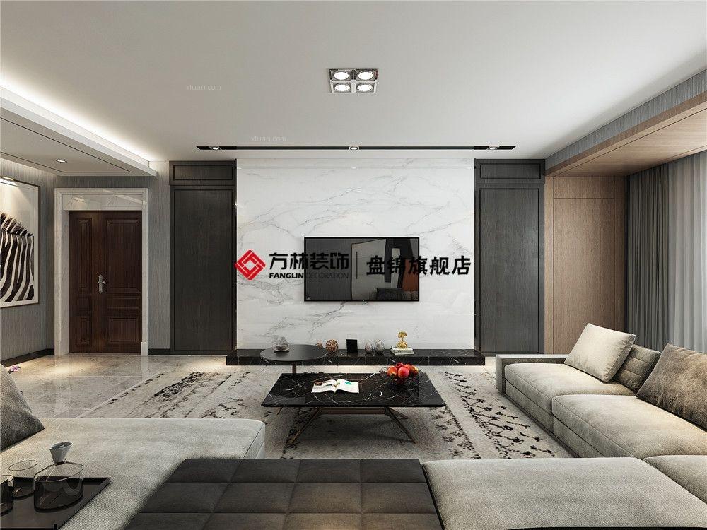 盘锦广厦新城160平跃层现代简约风格装修效果图