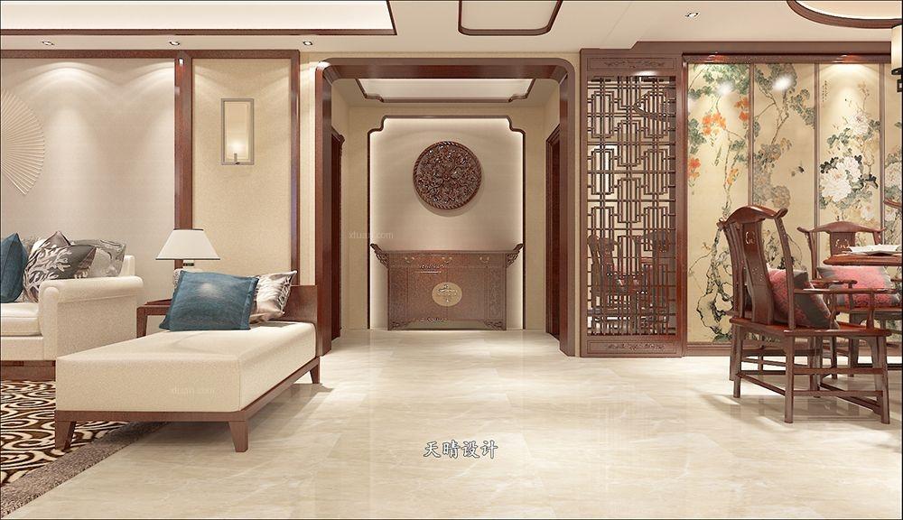 四居室中式风格玄关