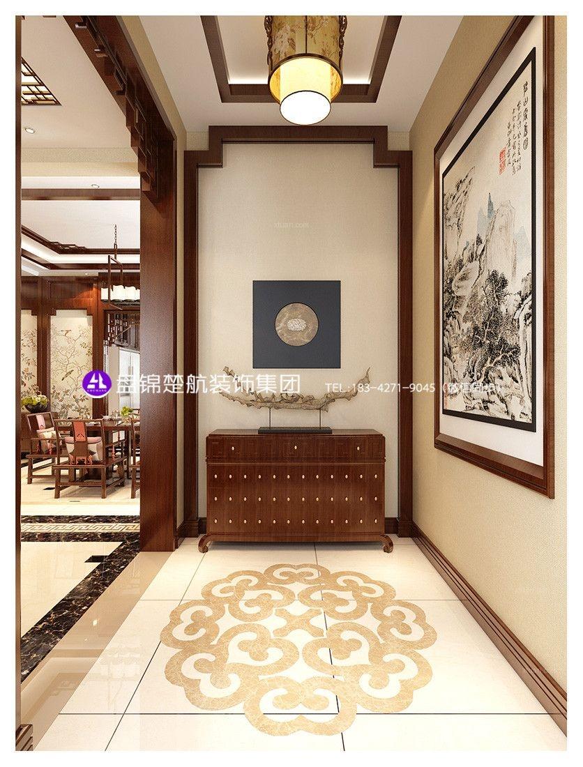 盘锦别墅高端设计美的城别墅二期300平新中式装修效果图