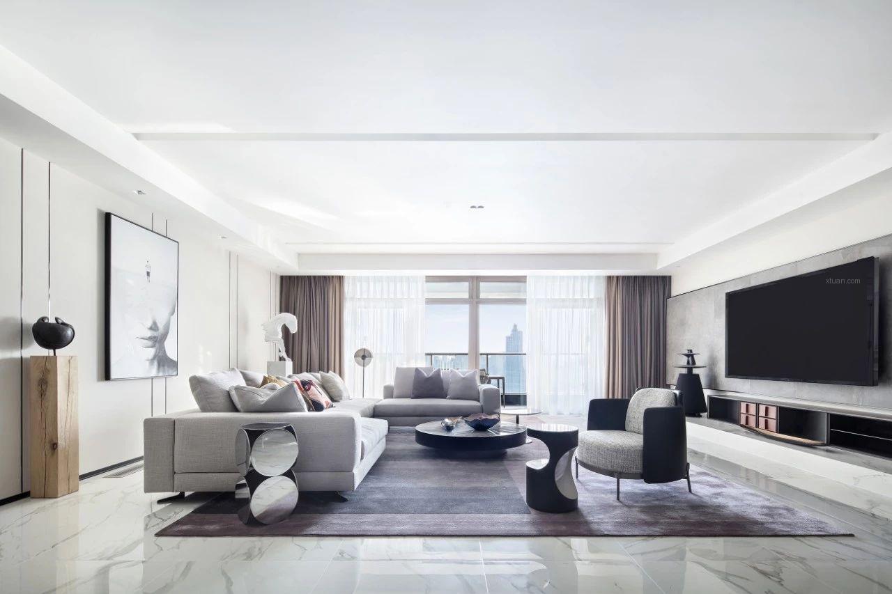 三居室现代风格客厅