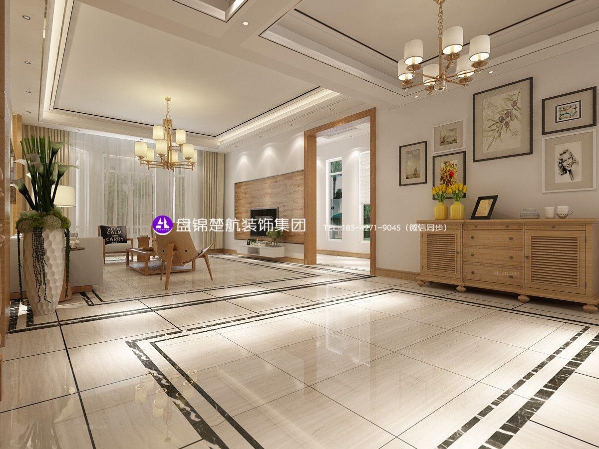 盘锦别墅高端设计美的城别墅350平北欧装修效果图