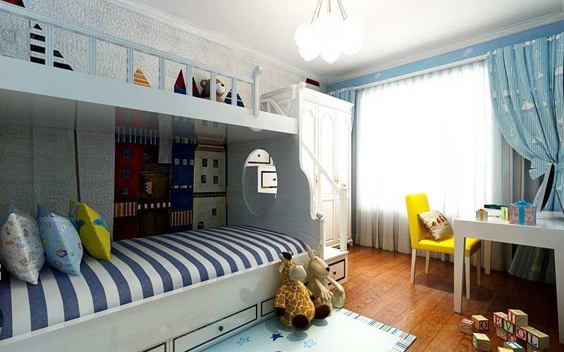 玫瑰湾小区三居室装修 美式风格装修效果图