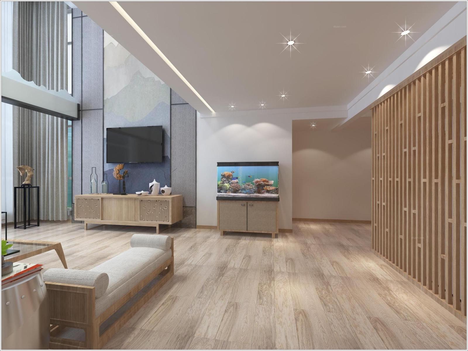 复式楼新中式客厅