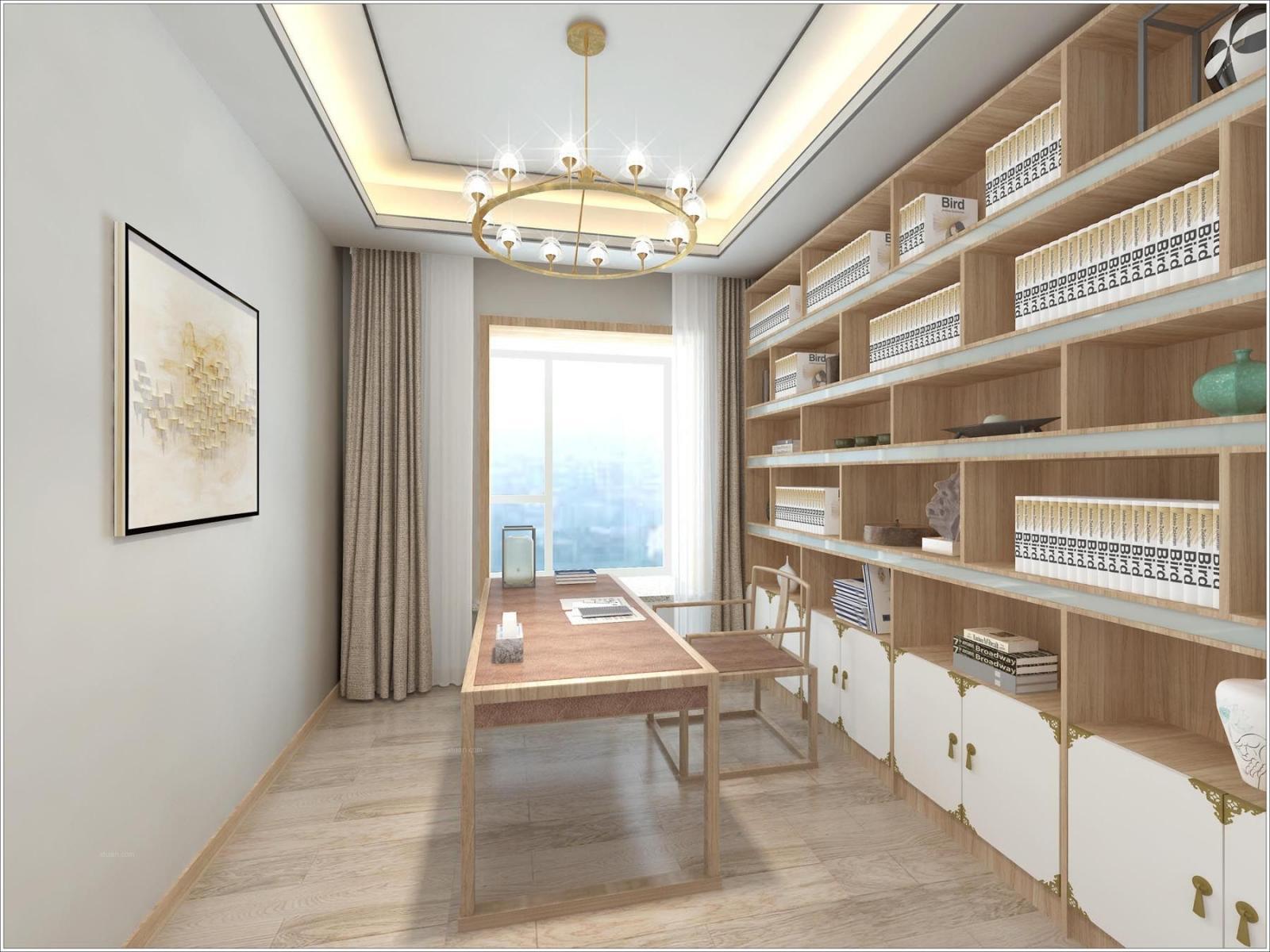 复式楼新中式书房