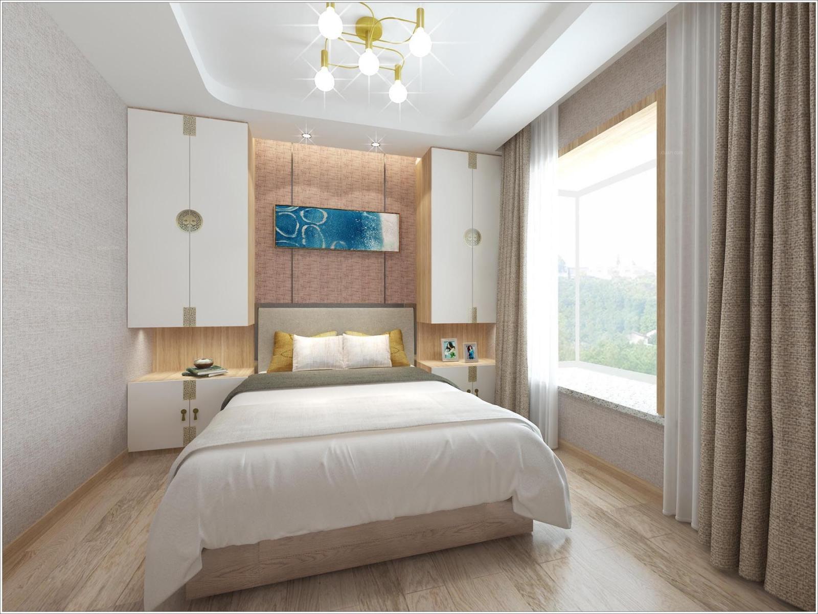 复式楼新中式卧室