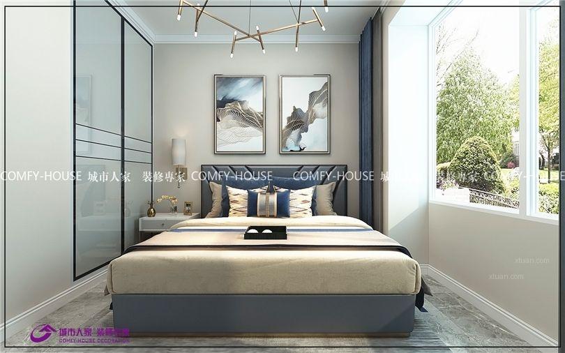 两居室北欧风格卧室软装