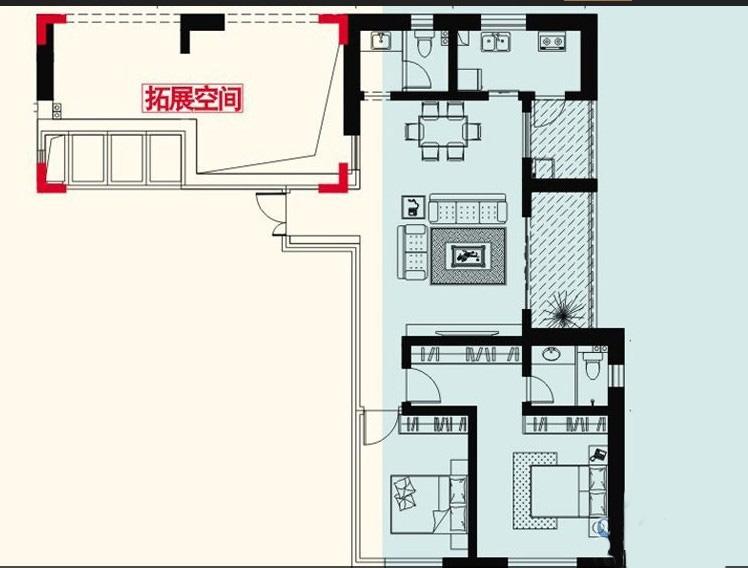 红星国际广场140平米现代风格