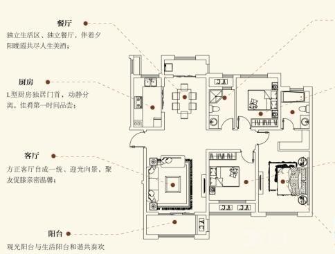 建业·森林半岛c2户型(三室两