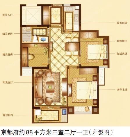 京都府公寓_京都府公寓户型图装修案例-x团温州装修网