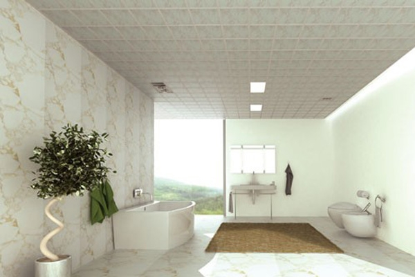 吊顶是指天花板的装修,是室内装饰的重要部分之一。目前,比较容易造型的吊顶材料是石膏板。石膏板比较容易塑造造型,而且其具有较好的吸音功能,人们的客厅、卧室、书房吊顶多采用石膏板。下面就同小编一起来欣赏充满艺术空间的石膏板吊顶效果图。 一、直线反光吊顶:目前这种造型最普遍,很符合人们比较喜欢的简约自然的装修风格,相当于在顶面只做简单的平面造型处理。为避免单调,有的消费者会在电视墙的顶部利用石膏板做一个局部的直角造型,将射灯暗藏进去,晚上打开射灯看电视,轻柔温和,别有一番情调。  石膏板吊顶效果图直线反光吊顶效